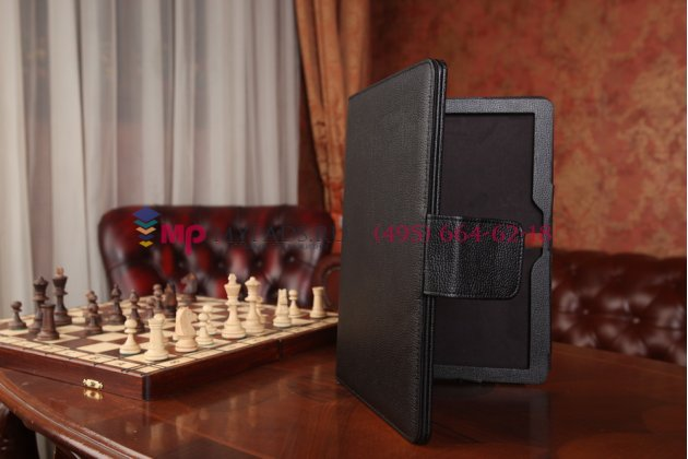 Чехол со съёмной bluetooth-клавиатурой для samsung galaxy note pro 12.2 sm-p900/p901/p905 черный кожаный + гарантия