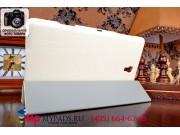 Фирменный чехол подставка для Samsung Galaxy Tab S 8.4 белый натуральная кожа