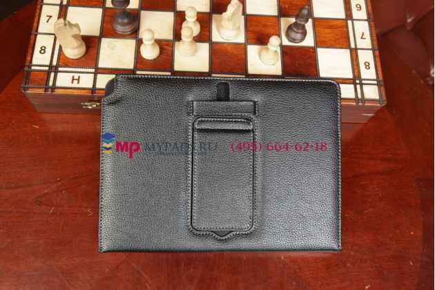 Чехол со съёмной bluetooth-клавиатурой для samsung galaxy note 10.1 2014 edition sm-p600/p601/p605 черный кожаный + гарантия