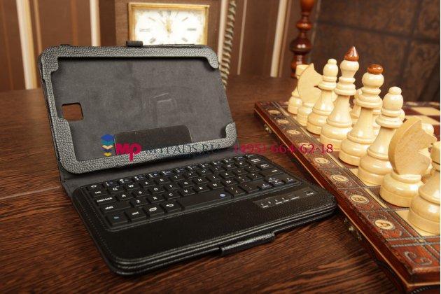 Чехол со съёмной bluetooth-клавиатурой для samsung galaxy note 8.0 n5100/n5110/n5120 черный кожаный + гарантия