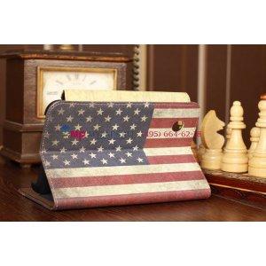 "Чехол для Samsung Galaxy Tab 2 7.0 P3100 ""тематика американский флаг"" кожаный"