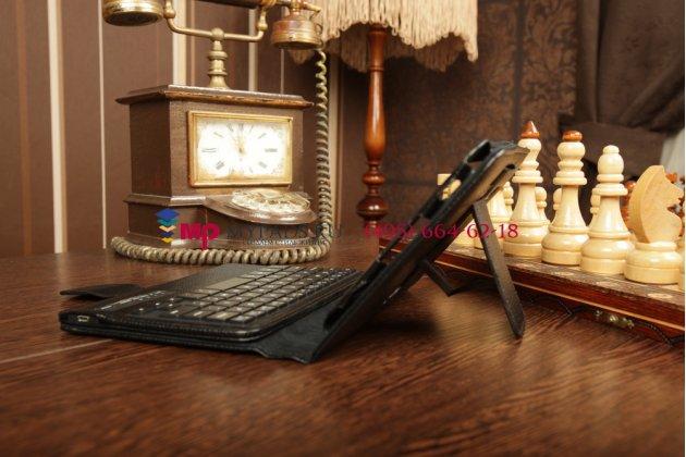 Чехол со съёмной bluetooth-клавиатурой для samsung galaxy tab 2 7.0 gt-p3100/p3110 черный кожаный + гарантия
