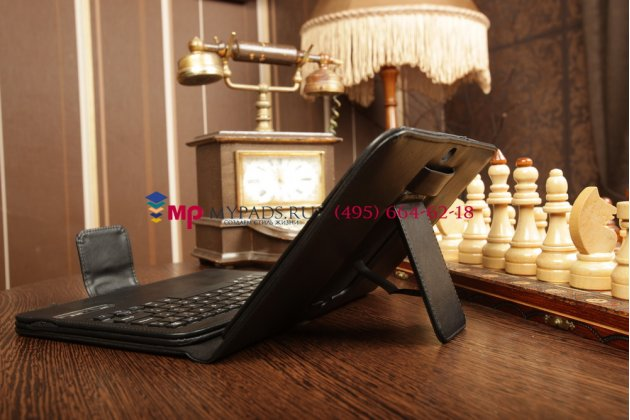 Со съёмной bluetooth-клавиатурой для samsung galaxy tab 3 10.1 gt-p5200/p5210 черный кожаный + гарантия