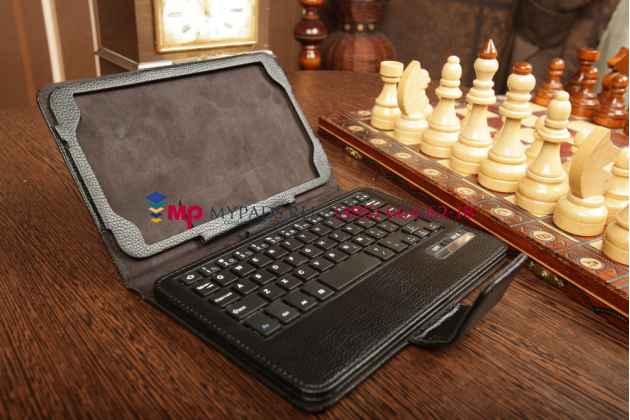 Чехол со съёмной bluetooth-клавиатурой для samsung galaxy tab 3 8.0 sm-t310/t311 черный кожаный + гарантия