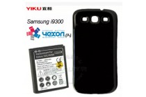Усиленная батарея-аккумулятор большой повышенной ёмкости 4300 mAh для телефона Samsung Galaxy S3 GT-I9300/Duos GT-I9300I + гарантия + задняя крышка черная
