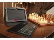 Фирменный чехол со съёмной Bluetooth-клавиатурой для Samsung Galaxy Tab 2 10.1 GT-P5100/P5110 черный кожаный +..