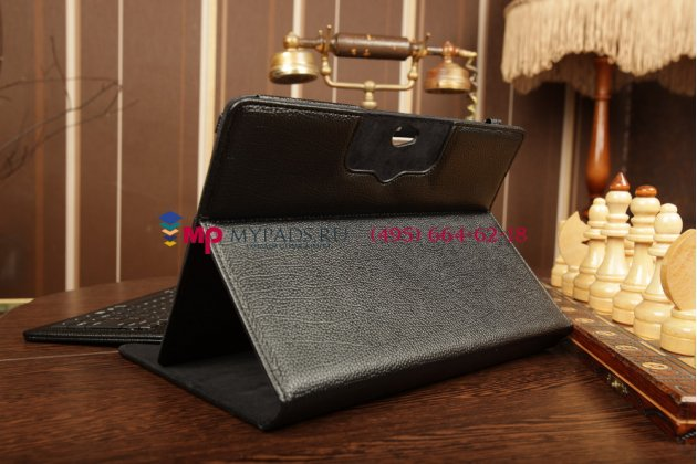 Чехол со съёмной bluetooth-клавиатурой для samsung galaxy tab 2 10.1 gt-p5100/p5110 черный кожаный + гарантия