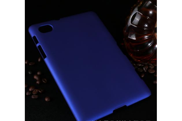 Задняя панель-крышка-накладка из тончайшего и прочного пластика для samsung 7.7 p6800 синяя