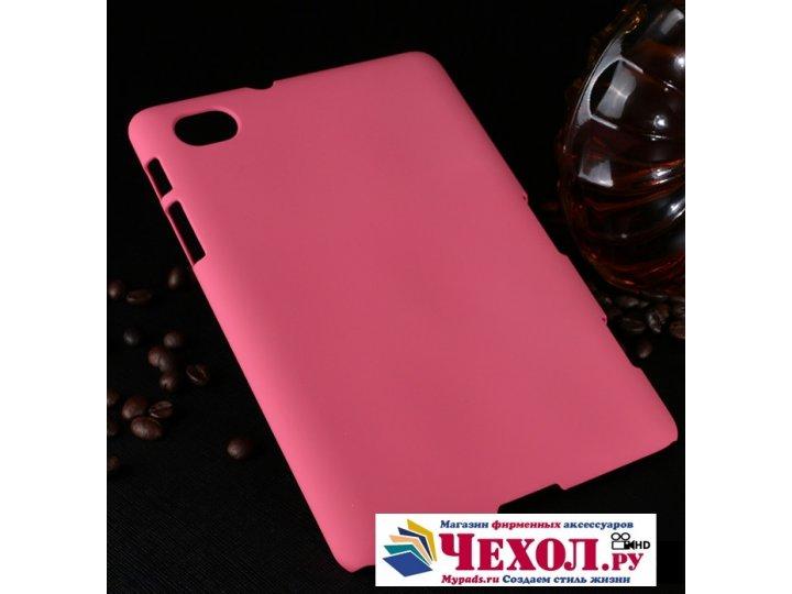 Задняя панель-крышка-накладка из тончайшего и прочного пластика для samsung 7.7 p6800 розовая..