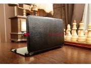 Фирменный чехол для Samsung Galaxy Tab 3 8.0 SM-T310/T311 с мульти-подставкой и держателем для руки черный кож..