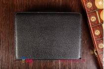 Фирменный оригинальный чехол со съёмной Bluetooth-клавиатурой для Samsung Galaxy Tab 4 7.0 SM-T230/T231/T235 черный кожаный + гарантия