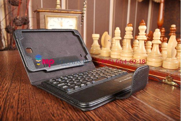 Чехол со съёмной bluetooth-клавиатурой для samsung galaxy tab 4 7.0 sm-t230/t231/t235 черный кожаный + гарантия