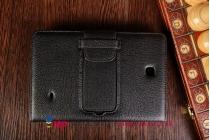 Фирменный оригинальный чехол со съёмной Bluetooth-клавиатурой для Samsung Galaxy Tab 4 8.0 SM-T330/T331/T335 черный кожаный + гарантия