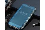 Чехол-книжка с дизайном Clear View Cover полупрозрачный с зеркальной поверхностью для Samsung Galaxy C7 Pro SM-C7010 синий