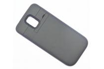 Чехол-бампер со встроенной усиленной мощной батарей-аккумулятором большой повышенной расширенной ёмкости 3500mAh для Samsung Galaxy S5 SM-G900H/G900F черный + гарантия