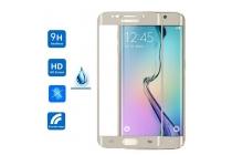 """Фирменное 3D защитное изогнутое стекло с закругленными изогнутыми краями которое полностью закрывает экран / дисплей по краям с олеофобным покрытием для Samsung Galaxy S6 Edge Plus + SM-G928 5.7"""""""