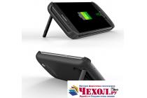"""Чехол-бампер со встроенной усиленной мощной батарей-аккумулятором большой повышенной расширенной ёмкости 4200mAh для Samsung Galaxy S7 G930 / G9300 5.1"""" черный + гарантия"""