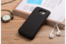 """Чехол-бампер со встроенной усиленной мощной батарей-аккумулятором большой повышенной расширенной ёмкости 6500mAh для Samsung Galaxy S7 G930 / G9300 5.1"""" черный + гарантия"""