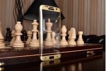 """Фирменное 3D защитное изогнутое стекло с закругленными изогнутыми краями которое полностью закрывает экран / дисплей по краям с олеофобным покрытием для Samsung Galaxy S7 edge G9350/G935 5.5"""""""