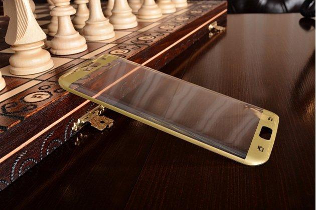 """3d защитное изогнутое стекло с закругленными изогнутыми краями которое полностью закрывает экран / дисплей по краям с олеофобным покрытием для samsung galaxy s7 edge g9350/g935 5.5"""""""
