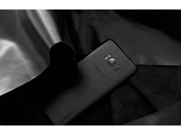 Эксклюзивная задняя кожаная наклейка (из натуральной кожи) для samsung galaxy note 8 черная..