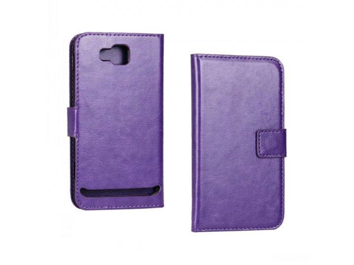 Чехол-книжка из качественной импортной кожи для samsung ativ s gt-i8750 фиолетовый..