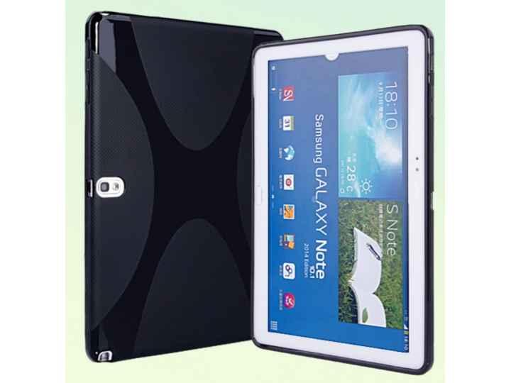 Ультра-тонкая полимерная из мягкого качественного силикона задняя панель-чехол-накладка для планшета samsung g..
