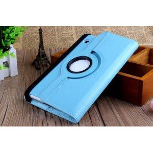 Чехол поворотный-роторный без рамки вокруг экрана для samsung galaxy tab 2 7.0 p3100 синий кожаный