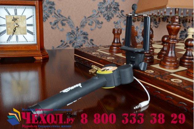 Необычная селфи-палка/монопод для сэлфи проводная не нужно подзаряжать с удобной нескользящей ручкой с 3d изображением микки-мауса + гарантия