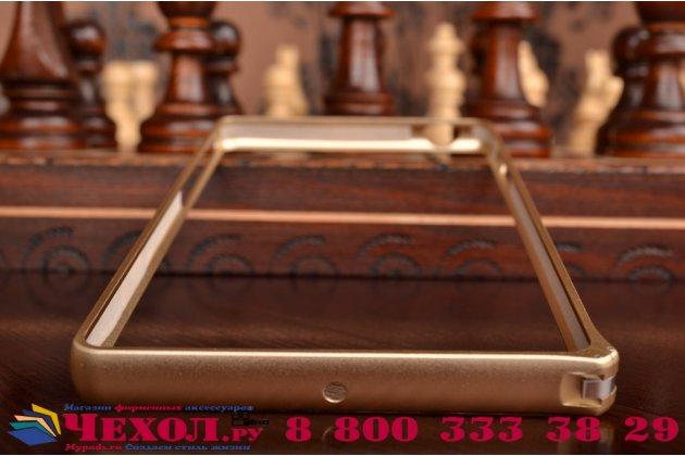 Ультра-тонкий чехол-бампер для sony xperia c4/ c4 dual e5303 / e5333 золотой  металлический