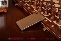 Металлическая задняя панель-крышка-накладка из тончайшего облегченного авиационного алюминия для sony xperia z4 /z3+ золотая