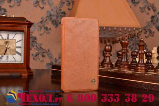 """Премиальный элитный чехол-книжка из качественной импортной кожи с мульти-подставкой и визитницей для sony xperia c4/ c4 dual """"ретро"""" коричневый"""