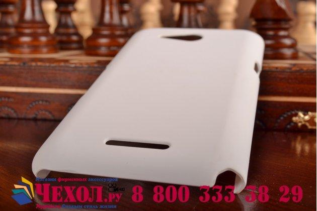 Задняя панель-крышка-накладка из тончайшего и прочного пластика для sony xperia e4g/ e4g dual e2003/e2033 белая