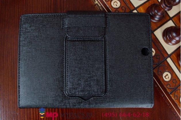 Чехол со съёмной bluetooth-клавиатурой для sony xperia z3 tablet compact (spg611/sgp621ru) черный кожаный + гарантия