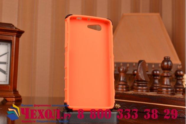 Противоударный усиленный грязестойкий чехол-бампер-пенал для sony xperia z3 compact d5803 оранжевый