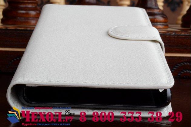 Чехол-книжка из качественной импортной кожи с подставкой застёжкой и визитницей для sony xperia z4 белый