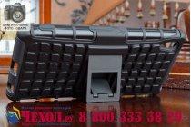 Противоударный усиленный ударопрочный чехол-бампер-пенал для sony xperia z4/z3+ черный