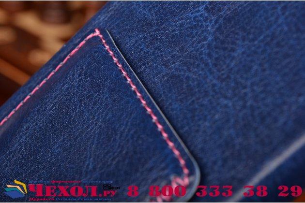 """Роскошная элитная премиальная задняя панель-крышка для sony xperia z5 / z5 dual sim e6603/e6633 5.2""""  из качественной кожи буйвола с визитницей синяя"""