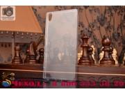 Фирменная задняя панель-крышка-накладка из ультра-тонкого силикона для Sony Xperia Z5 Premium / Z5 Premium Dua..