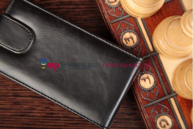 Вертикальный откидной чехол-флип для sony xperia e dual c1605 черный кожаный