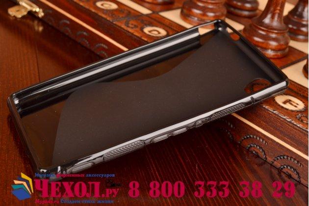 Ультра-тонкая полимерная из мягкого качественного силикона задняя панель-чехол-накладка для sony xperia m4 aqua/aqua dual черная