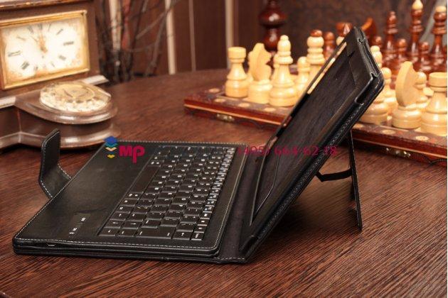 Чехол со съёмной bluetooth-клавиатурой для sony xperia tablet z2 (sgp511/512/521) черный кожаный + гарантия
