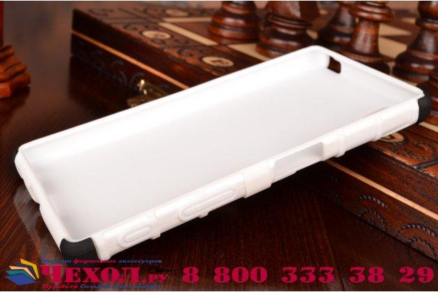 Противоударный усиленный ударопрочный чехол-бампер-пенал для sony xperia z5 / z5 dual sim e6603/e6633 5.2 белый