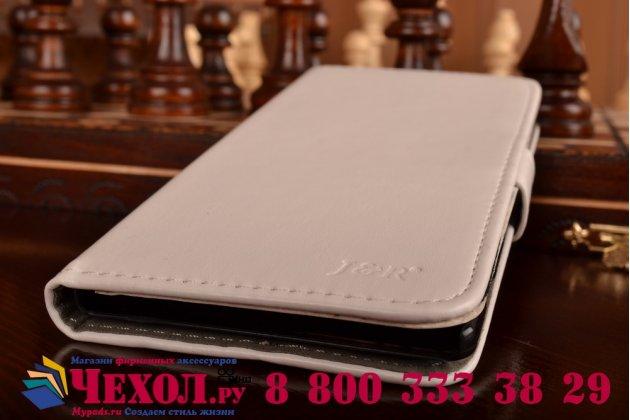 Чехол-книжка из качественной импортной кожи с подставкой и застёжкой для sony xperia c3/c3 dual sim d2533 /d2502 /s55t/ s55u белый