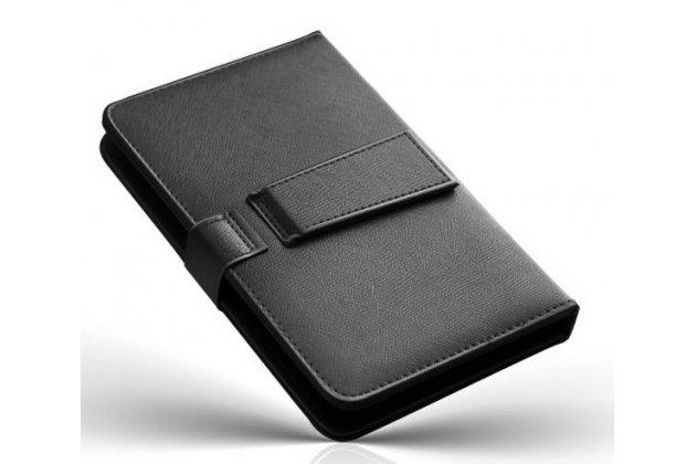 Чехол со встроенной клавиатурой для телефона sony xperia c3/c3 dual sim d2533 /d2502 /s55t/ s55u 5.5 дюймов черный кожаный + гарантия