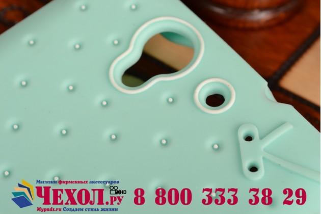 """Необычная уникальная полимерная мягкая задняя панель-чехол-накладка для sony xperia c3/c3 dual sim d2533 /d2502 /s55t/ s55u """"тематика андроид в мятном шоколаде"""""""