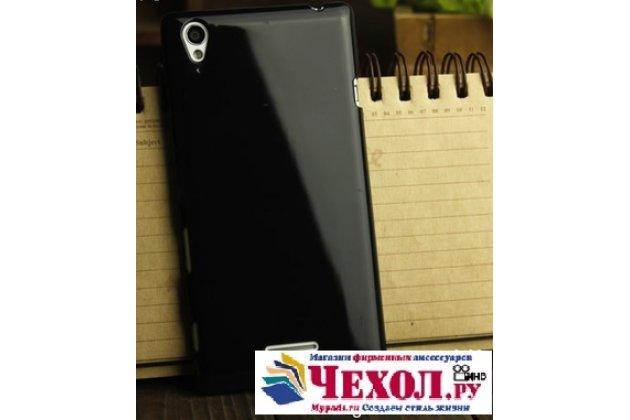 Ультра-тонкая полимерная из мягкого качественного силикона задняя панель-чехол-накладка для sony xperia t3 d5102/d5103 черная
