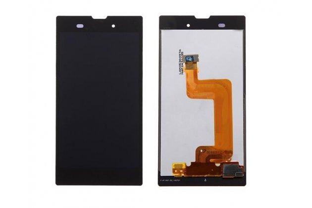 Lcd-жк-сенсорный дисплей-экран-стекло с тачскрином на телефон sony xperia t3 d5102/d5103 черный + гарантия