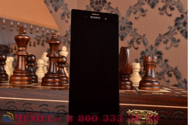 Lcd-жк-сенсорный дисплей-экран-стекло с тачскрином на телефон sony xperia z3 d6603/ z3 dual d6633 черный + гарантия