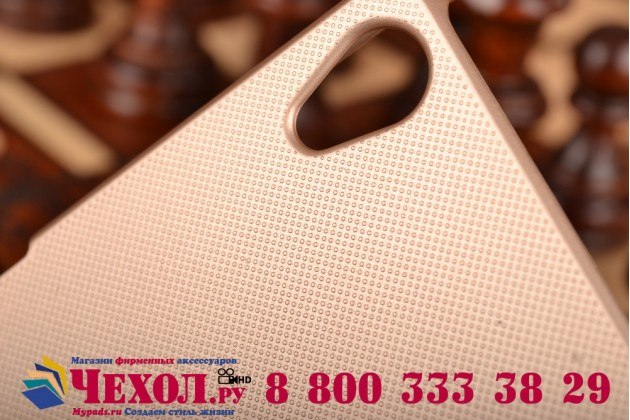 Задняя панель-крышка-накладка из тончайшего и прочного пластика для sony xperia z3 d6603/ z3 dual d6633 золотая